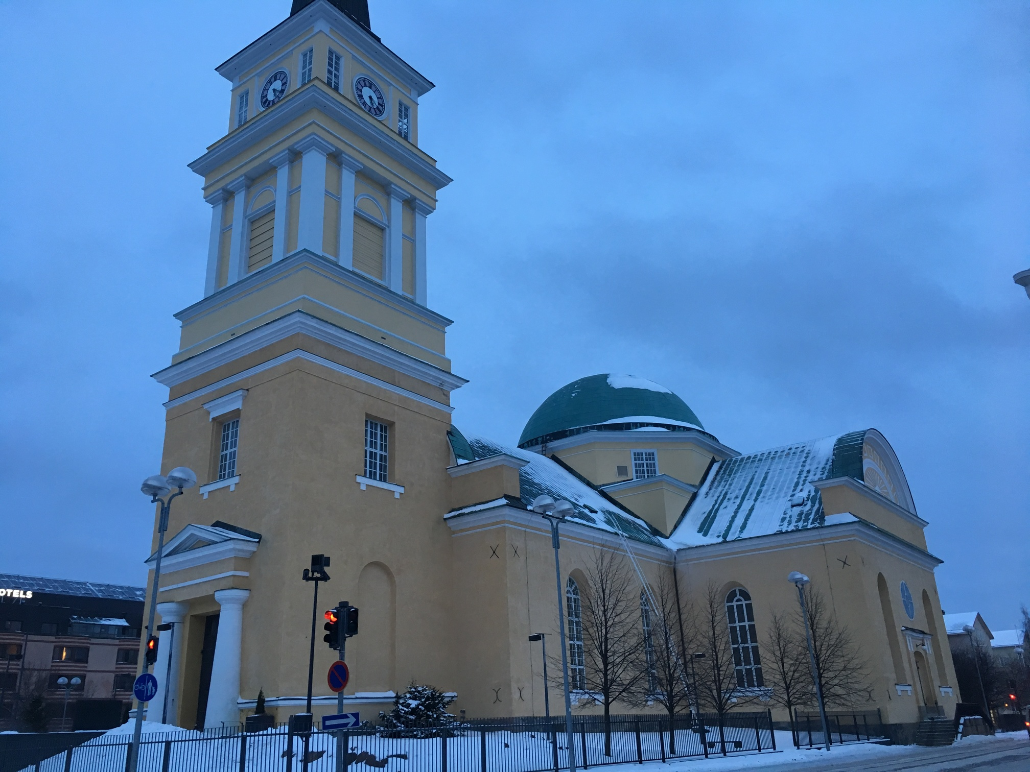 outside of oulu cathedral