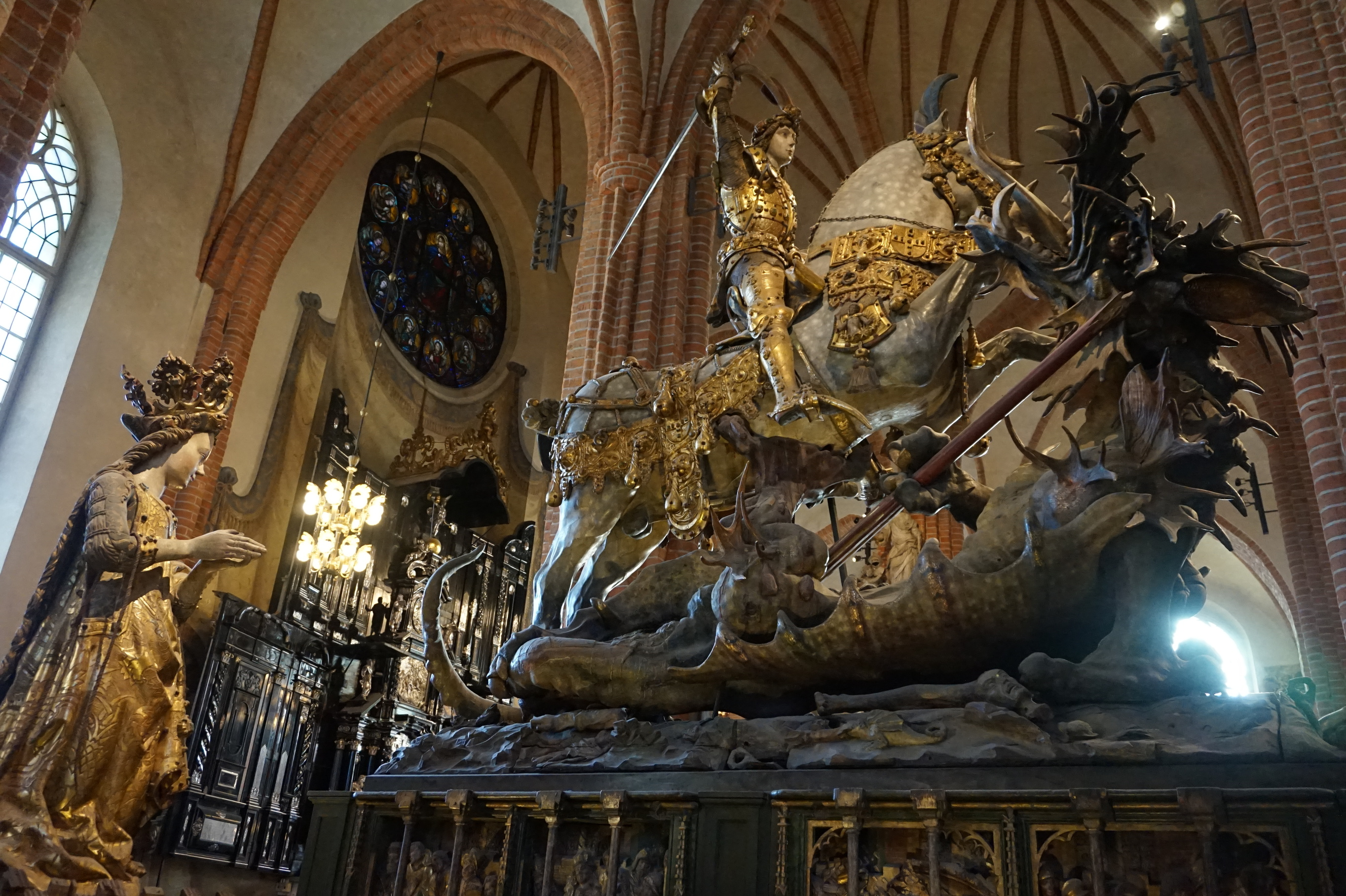 sculpture of st george