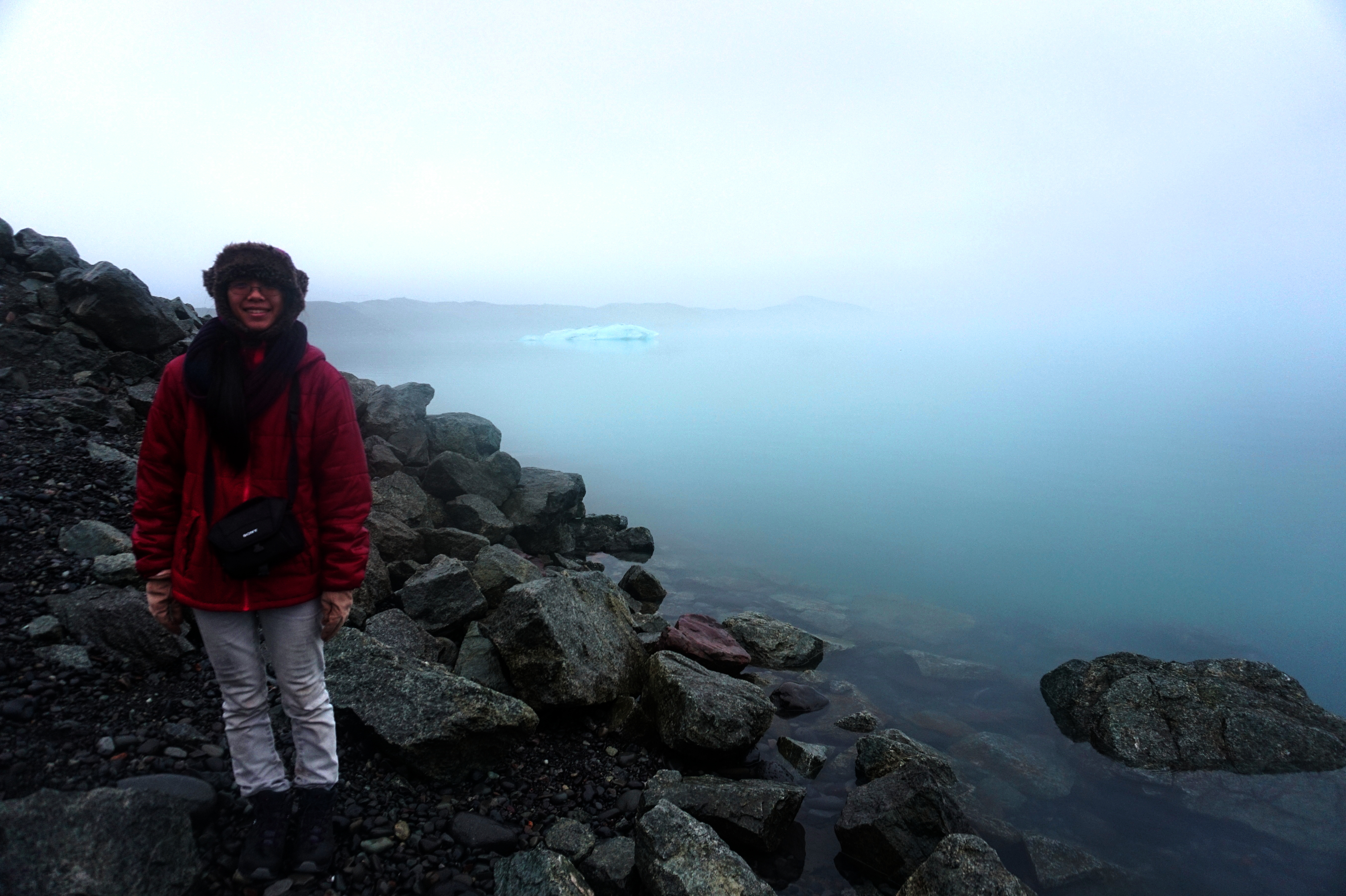 Me in front of the glacier lagoon