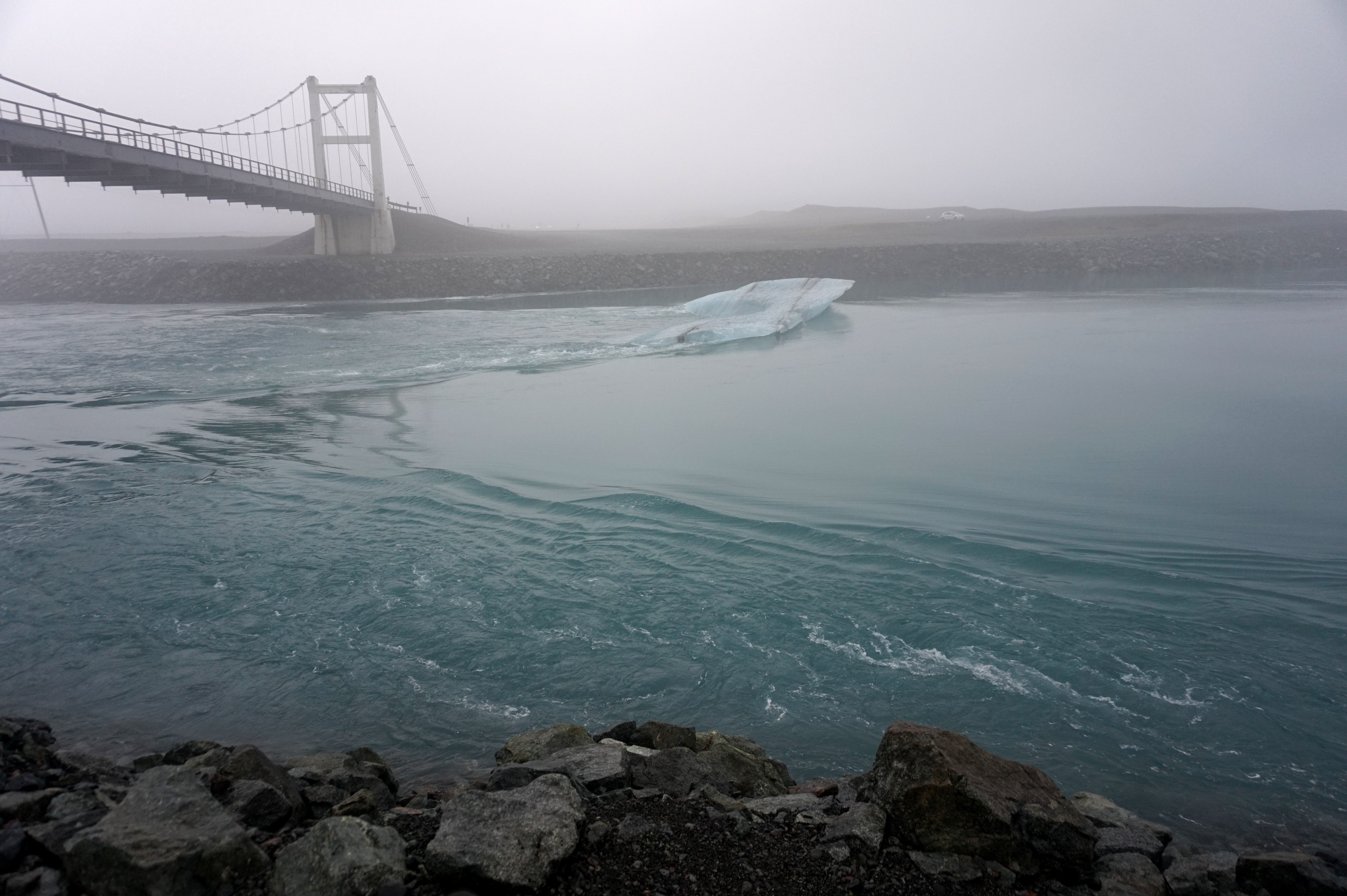 The only other glacier in the lake besides the one I took a picture with